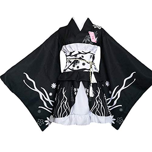 Double Villages Japonais Style Kimono Peignoir Robe Anime Co